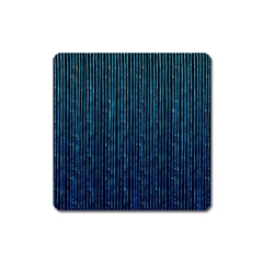Stylish Abstract Blue Strips Square Magnet by gatterwe
