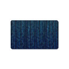 Stylish Abstract Blue Strips Magnet (name Card) by gatterwe