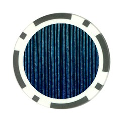 Stylish Abstract Blue Strips Poker Chip Card Guard by gatterwe