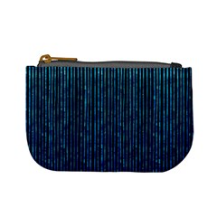 Stylish Abstract Blue Strips Mini Coin Purses by gatterwe