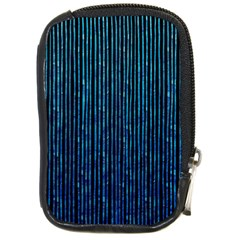 Stylish Abstract Blue Strips Compact Camera Cases