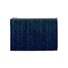 Stylish Abstract Blue Strips Cosmetic Bag (medium)  by gatterwe