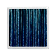 Stylish Abstract Blue Strips Memory Card Reader (square)  by gatterwe