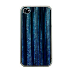 Stylish Abstract Blue Strips Apple Iphone 4 Case (clear) by gatterwe