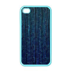 Stylish Abstract Blue Strips Apple Iphone 4 Case (color) by gatterwe