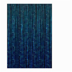 Stylish Abstract Blue Strips Small Garden Flag (two Sides) by gatterwe