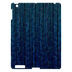 Stylish Abstract Blue Strips Apple Ipad 3/4 Hardshell Case by gatterwe