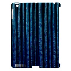 Stylish Abstract Blue Strips Apple Ipad 3/4 Hardshell Case (compatible With Smart Cover) by gatterwe