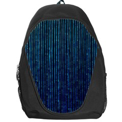 Stylish Abstract Blue Strips Backpack Bag by gatterwe