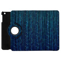 Stylish Abstract Blue Strips Apple Ipad Mini Flip 360 Case by gatterwe