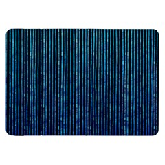 Stylish Abstract Blue Strips Samsung Galaxy Tab 8 9  P7300 Flip Case by gatterwe
