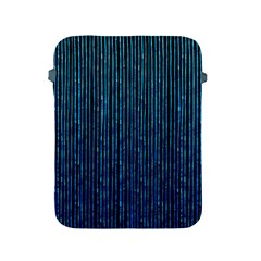 Stylish Abstract Blue Strips Apple Ipad 2/3/4 Protective Soft Cases by gatterwe