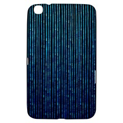 Stylish Abstract Blue Strips Samsung Galaxy Tab 3 (8 ) T3100 Hardshell Case  by gatterwe