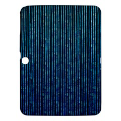 Stylish Abstract Blue Strips Samsung Galaxy Tab 3 (10 1 ) P5200 Hardshell Case  by gatterwe