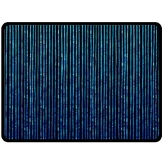 Stylish Abstract Blue Strips Double Sided Fleece Blanket (large)  by gatterwe