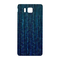 Stylish Abstract Blue Strips Samsung Galaxy Alpha Hardshell Back Case by gatterwe