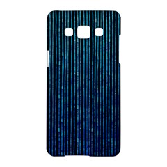 Stylish Abstract Blue Strips Samsung Galaxy A5 Hardshell Case  by gatterwe