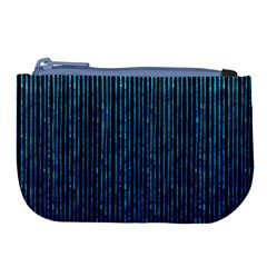 Stylish Abstract Blue Strips Large Coin Purse by gatterwe