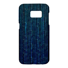 Stylish Abstract Blue Strips Samsung Galaxy S7 Hardshell Case  by gatterwe