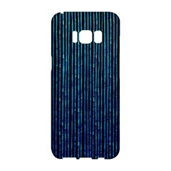 Stylish Abstract Blue Strips Samsung Galaxy S8 Hardshell Case  by gatterwe