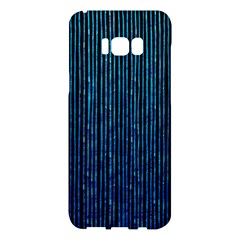 Stylish Abstract Blue Strips Samsung Galaxy S8 Plus Hardshell Case  by gatterwe