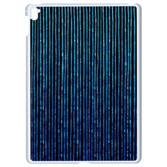 Stylish Abstract Blue Strips Apple Ipad Pro 9 7   White Seamless Case by gatterwe