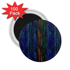 Stylish Colorful Strips 2 25  Magnets (100 Pack)  by gatterwe