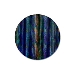 Stylish Colorful Strips Magnet 3  (round) by gatterwe