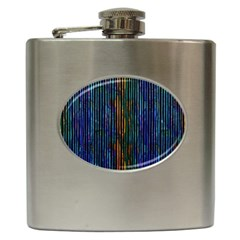 Stylish Colorful Strips Hip Flask (6 Oz) by gatterwe