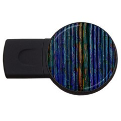 Stylish Colorful Strips Usb Flash Drive Round (2 Gb) by gatterwe