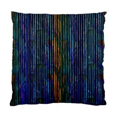 Stylish Colorful Strips Standard Cushion Case (two Sides) by gatterwe