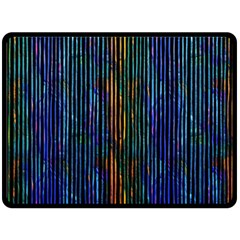 Stylish Colorful Strips Fleece Blanket (large)  by gatterwe