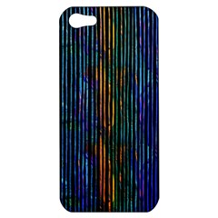 Stylish Colorful Strips Apple Iphone 5 Hardshell Case by gatterwe