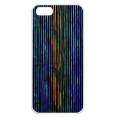 Stylish Colorful Strips Apple Iphone 5 Seamless Case (white) by gatterwe