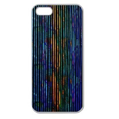 Stylish Colorful Strips Apple Seamless Iphone 5 Case (clear) by gatterwe