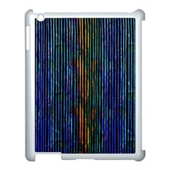 Stylish Colorful Strips Apple Ipad 3/4 Case (white) by gatterwe
