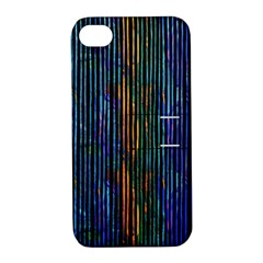 Stylish Colorful Strips Apple Iphone 4/4s Hardshell Case With Stand by gatterwe