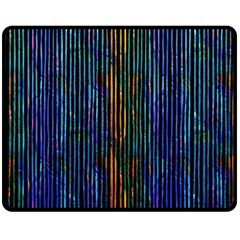 Stylish Colorful Strips Double Sided Fleece Blanket (medium)  by gatterwe