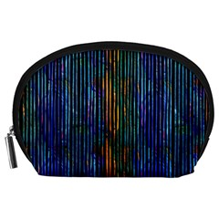 Stylish Colorful Strips Accessory Pouches (large)  by gatterwe
