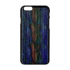 Stylish Colorful Strips Apple Iphone 6/6s Black Enamel Case by gatterwe