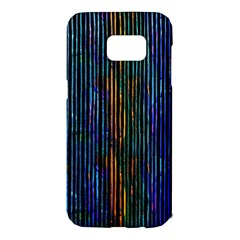 Stylish Colorful Strips Samsung Galaxy S7 Edge Hardshell Case by gatterwe