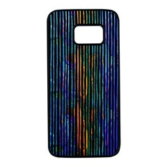 Stylish Colorful Strips Samsung Galaxy S7 Black Seamless Case by gatterwe