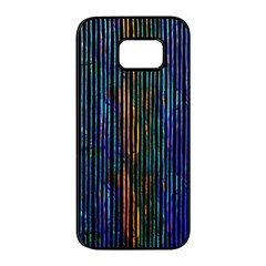 Stylish Colorful Strips Samsung Galaxy S7 Edge Black Seamless Case by gatterwe