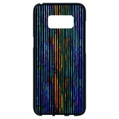 Stylish Colorful Strips Samsung Galaxy S8 Black Seamless Case by gatterwe