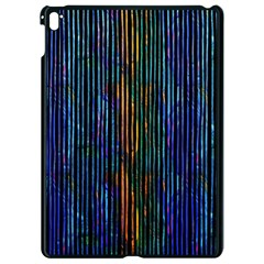 Stylish Colorful Strips Apple Ipad Pro 9 7   Black Seamless Case by gatterwe
