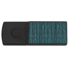 Stylish Frost Blue Strips Rectangular Usb Flash Drive by gatterwe