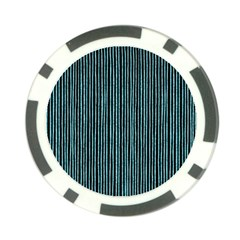 Stylish Frost Blue Strips Poker Chip Card Guard by gatterwe