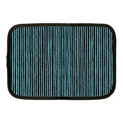 Stylish Frost Blue Strips Netbook Case (medium)  by gatterwe