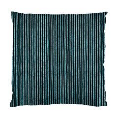 Stylish Frost Blue Strips Standard Cushion Case (two Sides) by gatterwe