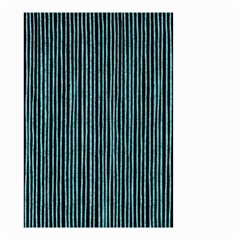 Stylish Frost Blue Strips Small Garden Flag (two Sides) by gatterwe